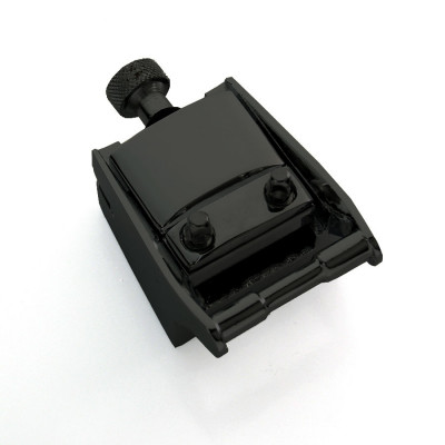 Extended & Adjustable Snare Drum Butt Plate - Black - B-2B