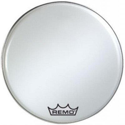 Remo EMPEROR Bass Drum Head - Crimplock - Smooth White 28 inch