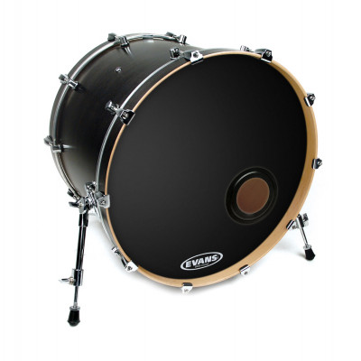 "Evans 18"" EMAD Resonant Black w/ 5"" Hole"
