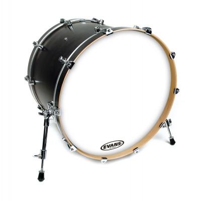 "Evans 20"" EQ3 Resonant Coated White Bass Drum Head - No Port"