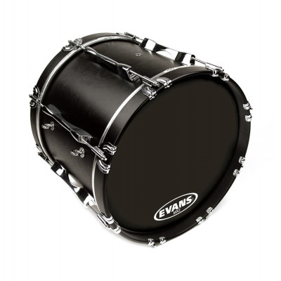 "Evans 22"" MX2 Marching Bass Drum Head Black"