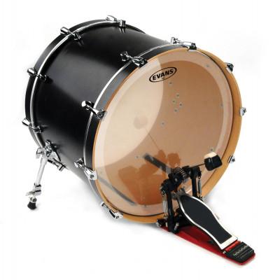 """Evans 24"""" EQ3 Bass Drum Head Clear"""