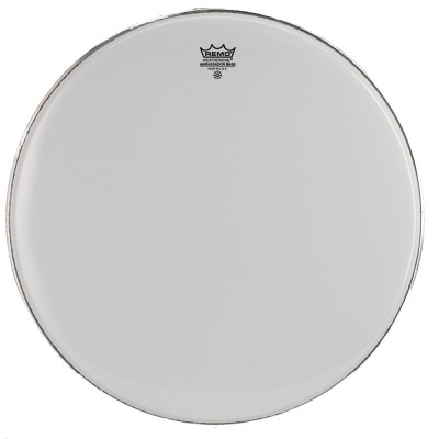 Remo AMBASSADOR Bass Drum Head - Crimplock - Smooth White 28 inch