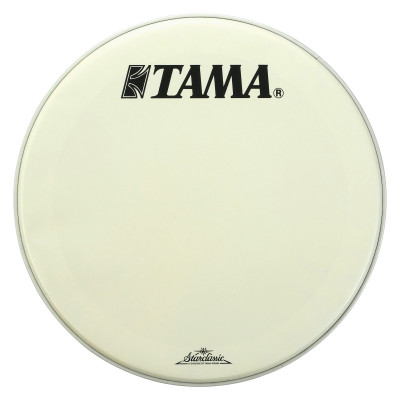 "Tama 24"" Coated White Bass Drum Front Head w/ Starclassic Logo"
