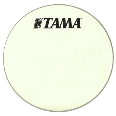 "Tama 24"" Coated White Bass Drum Front Head w/ Logo"