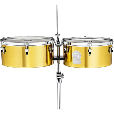 """Meinl 14"""" & 15"""" Solid Brass Timbales, Diego Galè"""