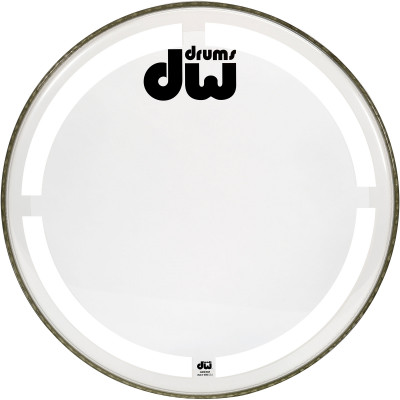 "DW 26"" Coated Clear Bass Drum Head"