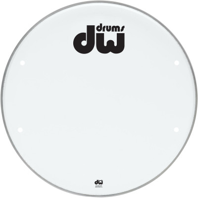 "DW 18"" Smooth White Head w/ Ports"