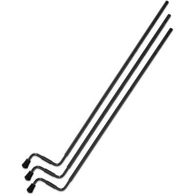 """DW 3 Pack Aluminum 27"""" Tom Legs - Black Nickel"""