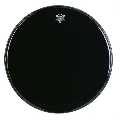 Remo AMBASSADOR Bass Drum Head - BLACK SUEDE 16 inch