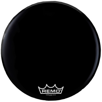 Remo POWERMAX Bass Drum Head - Crimplock - Black Suede 32 inch