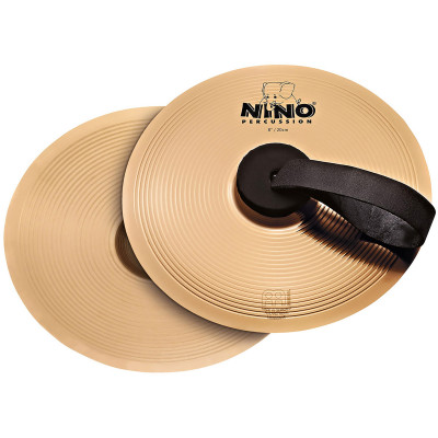 "Meinl NINO Marching Cymbal Pair 8"" Bronze"