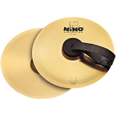 "Meinl NINO Marching Cymbal Pair 8"" Brass"