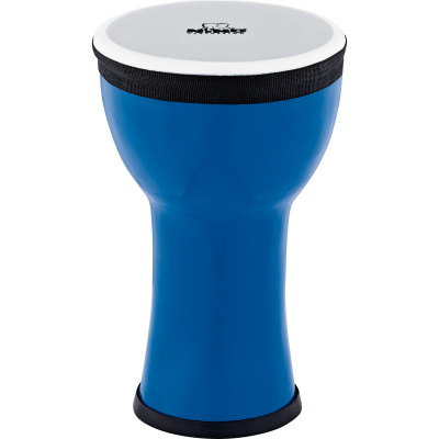 Nino Percussion NINO-EMDJ-BB Elements Mini Synthetic Djembe, Blue Berry