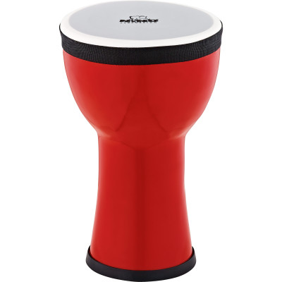 Nino Percussion NINO-EMDJ-FE Elements Mini Synthetic Djembe, Fire Engine