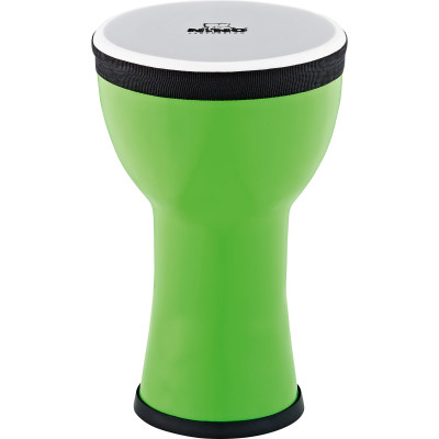 Nino Percussion NINO-EMDJ-GA Elements Mini Synthetic Djembe, Green Apple
