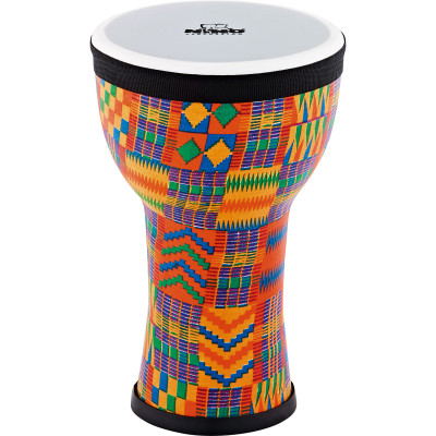 Nino Percussion NINO-EMDJ-KQ Elements Mini Synthetic Djembe, Kenyan Quilt