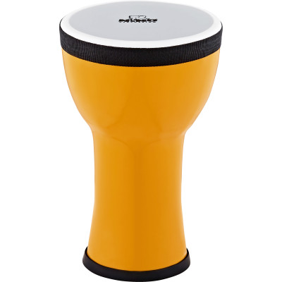 Nino Percussion NINO-EMDJ-LE Elements Mini Synthetic Djembe, Lemon