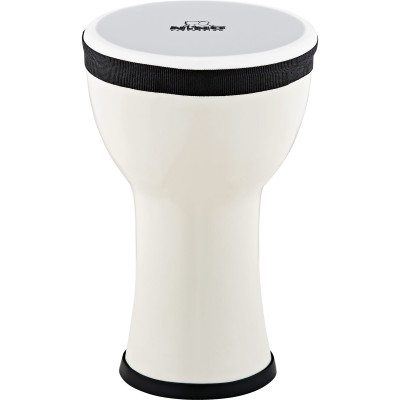 Nino Percussion NINO-EMDJ-SN Elements Mini Synthetic Djembe, Snow