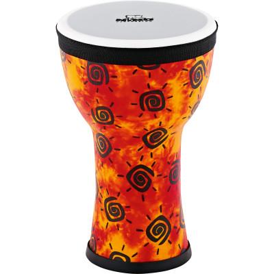 Nino Percussion NINO-EMDJ-SU Elements Mini Synthetic Djembe, Sunshine