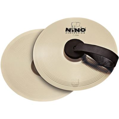 "Meinl NINO Marching Cymbal Pair 8"" Nickel Silver"