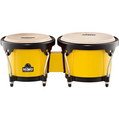 "Meinl NINO ABS Bongos 6 1/2"" & 7 1/2"" Yellow Shell Black Hardware"