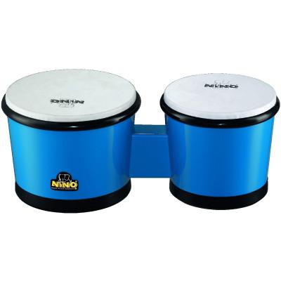 """Meinl NINO ABS Bongos 6 1/2"""" & 7 1/2"""" Blue"""