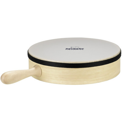 """Meinl NINO Hand Drum with Handle 10"""" Synthetic Head Natural"""