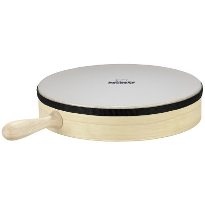 """Meinl NINO Hand Drum with Handle 12"""" Synthetic Head Natural"""