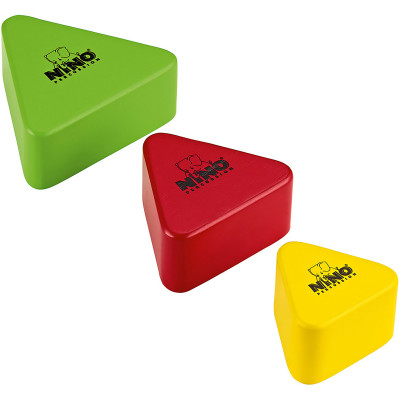 Meinl NINO Wood Shakers Triangular 3 piece Set Multi Colour