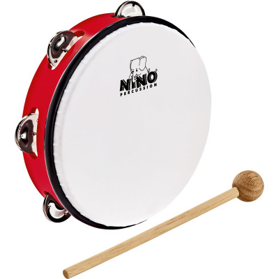 "Meinl NINO ABS 8"" Jingle Drum, Red"