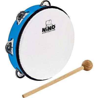 "Meinl NINO ABS 8"" Jingle Drum, Sky-Blue"