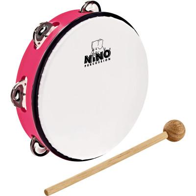 "Meinl NINO ABS 8"" Jingle Drum, Strawberry Pink"