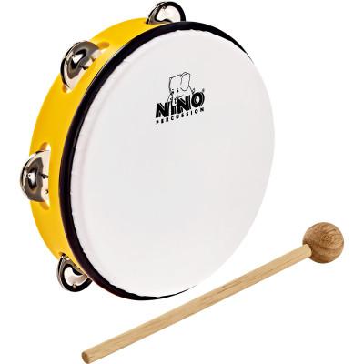 """Meinl NINO ABS 8"""" Jingle Drum, Yellow"""