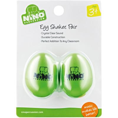 Meinl NINO Plastic Egg Shaker Pairs Grass-Green
