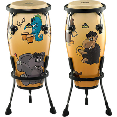 """Meinl NINO Designer Series Congas 8"""" & 9"""" Set w/ Stands Musical Zoo"""