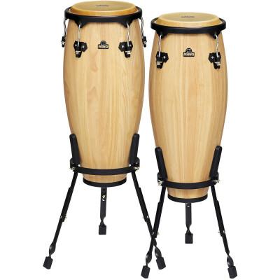"Meinl NINO Wood Conas 9"" & 10"" Set, Incl. Basket Stands Natural"