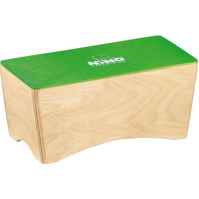 """NINO Bongo Cajon 12"""" x 5 1/2"""" x 5"""" Birch, Green"""
