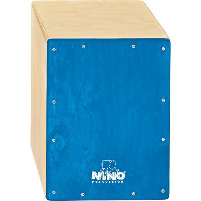 "Meinl NINO Cajon Birch 9 3/4"" L x 13"" H x 9 1/2"" D - Birch Blue"