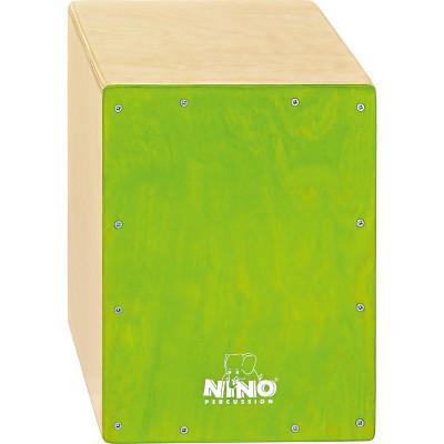 "Meinl NINO Cajon Birch 9 3/4"" L x 13"" H x 9 1/2"" D - Birch Green"