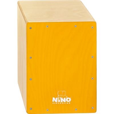 "Meinl NINO Cajon Birch 9 3/4"" L x 13"" H x 9 1/2"" D - Birch Yellow"