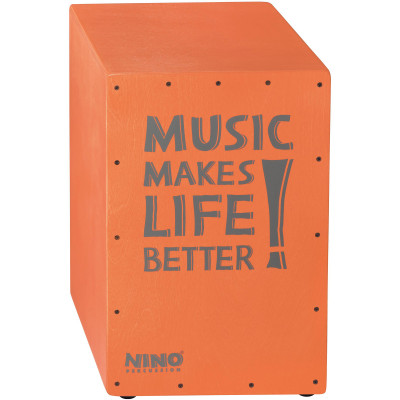 "NINO Better Life Series Cajon, 12"" x 17 3/4"" x 11 3/4"", Salmon"