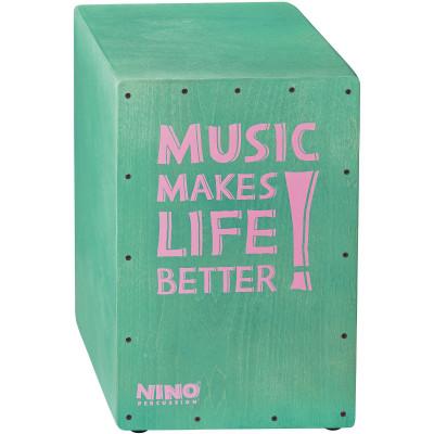 "NINO Better Life Series Cajon, 12"" x 17 3/4"" x 11 3/4"", Turquoise"