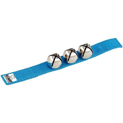 Meinl NINO Wrist Bells 9' Strap w/ 3 Bells Blue