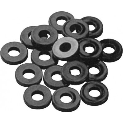 Pearl Nylon Washers - 12 Black
