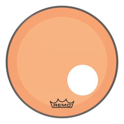 "Remo Powerstroke P3 Colortone Orange Bass Drumhead 18"" 5"" Offset Hole"