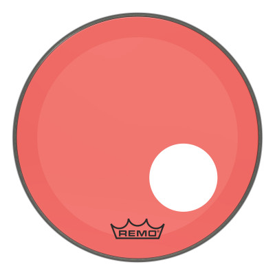 """Remo Powerstroke P3 Colortone Red Bass Drumhead 18"""" 5"""" Offset Hole"""