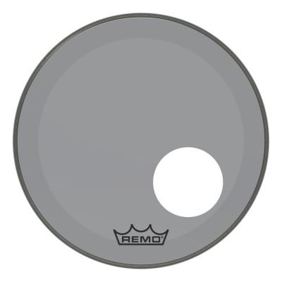 "Remo Powerstroke P3 Colortone Smoke Bass Drumhead 18"" 5"" Offset Hole"