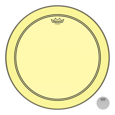 "Remo Powerstroke P3 Colortone Yellow Bass Drumhead 18"""