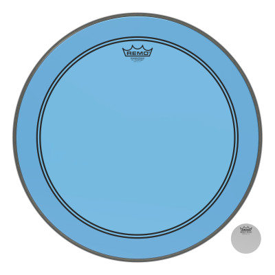 "Remo Powerstroke P3 Colortone Blue Bass Drumhead 20"""